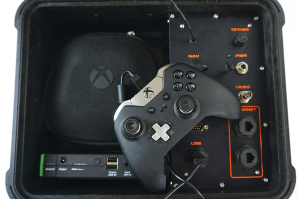 SRV-8 control console with X-box controller