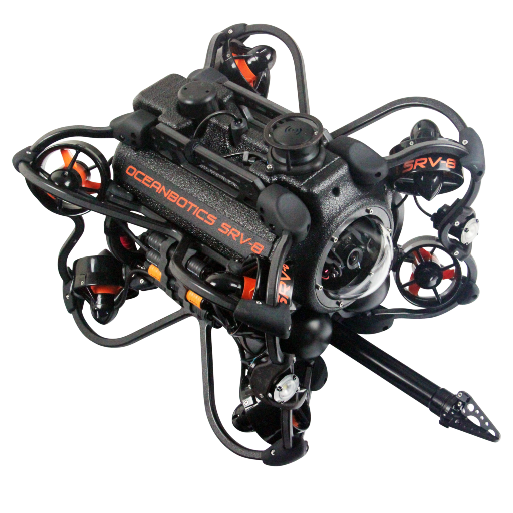 SRV-8 remotely operated underwater vehicle with grabber