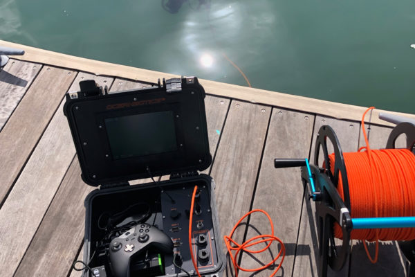 SRV-8 remotely operated underwater vehicle complete system deployed off harbor