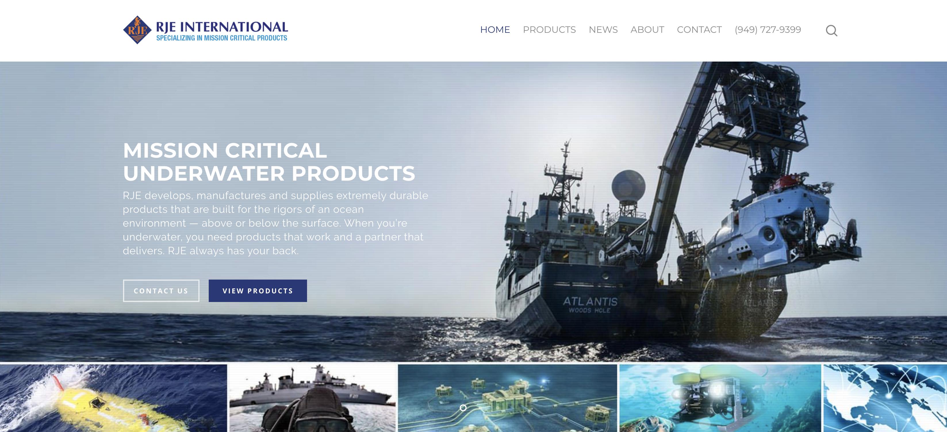 SRV-8 parent company RJE International homepage