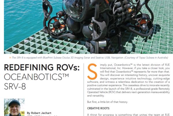 Oceanbotics SRV-8 Featured in Ocean News & Technology